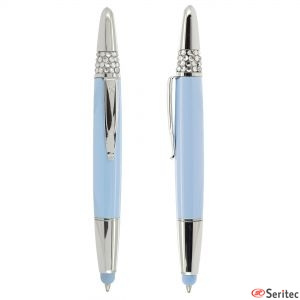 Bolígrafo con detalles cristales personalizado