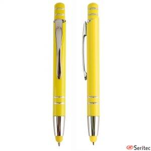 Bolígrafo aluminio con puntero táctil personalizado