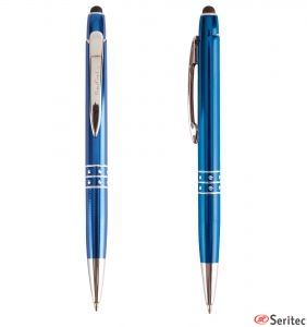 Bolígrafo con puntero táctil y funda personalizado