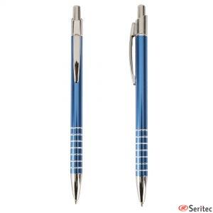 Bolígrafo de aluminio y tinta azul personalizado