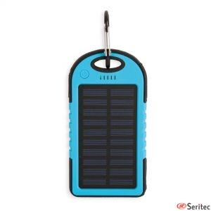 Batería externa solar para dos dispositivos personalizada