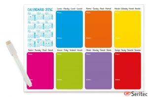 Planificador semanal con imán personalizado