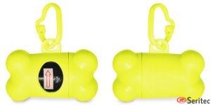 Porta bolsas para perros forma hueso personalizado