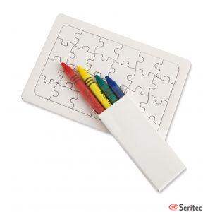 Puzzle para colorear publicitario