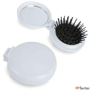 Cepillo plegable con espejo publicitario