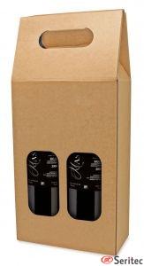 Caja cartón dos botellas personalizada