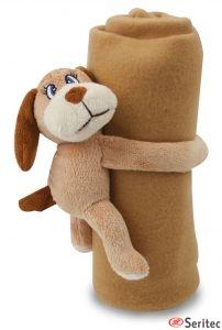 Perrito con manta personalizada