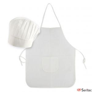 Delantales y gorros de cocina para niños personalizados