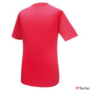 Camiseta dry & fresh  roja para hombre personalizada
