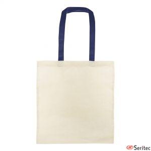 Bolsas de algodón con asas a color serigrafiadas
