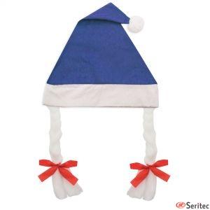 Gorros navidad con trenzas promocionales