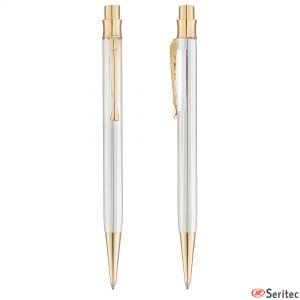 Bolígrafo de plata de Pierre Cardin serigrafiado