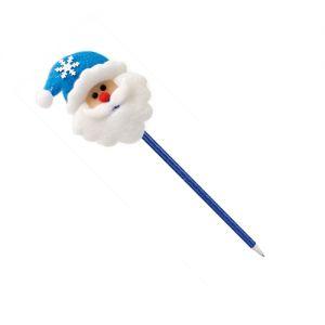 Bolígrafo Papá Noel azul publicitario