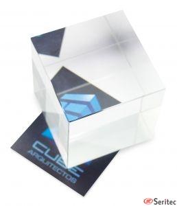 Cuadrado de cristal personalizado