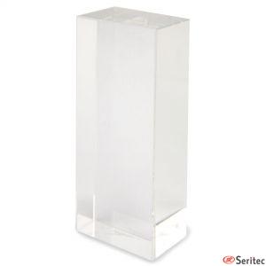 Trofeo de cristal con forma de torre para personalizar