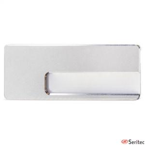 Identificador de aluminio publicitario