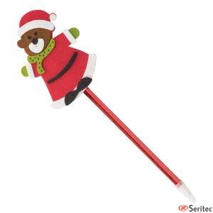 Bolígrafo oso navideño promocional