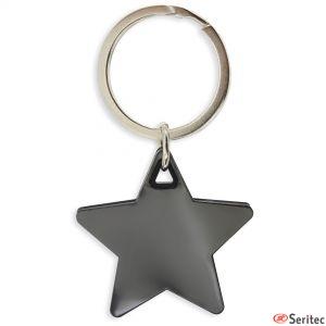 Llavero forma estrella personalizado
