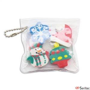 Set de gomas navideñas personalizado