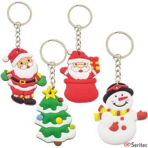 Set de llaveros navideños personalizados