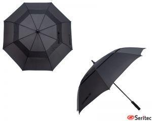 Paraguas clásico golf negro personalizado