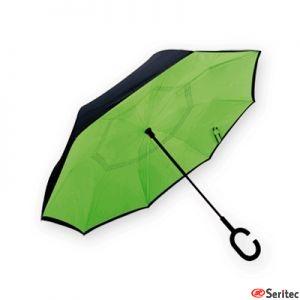 Paraguas reversible automático publicitario