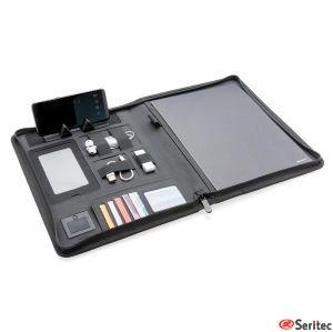 Carpeta A4 personalizable con cargador inalámbrico