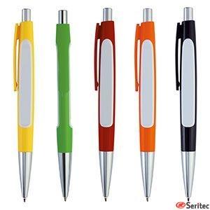 Bolígrafo publicitario de estilo tradicional con pulsador