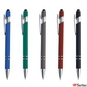 Bolígrafo de plástico publicitario acabado suave