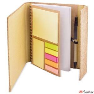 Cuaderno de corcho con cierre magnético publicitario