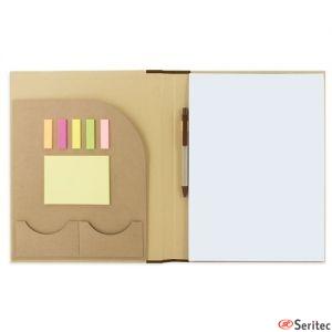 Portafolio de cartón con marcadores personalizado
