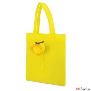 Bolsa plegable con forma de girasol personalizada