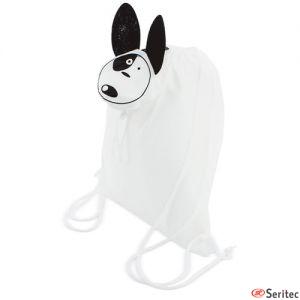 Mochila plegable con forma de perro personalizada