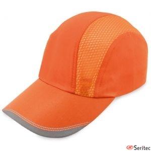 Gorra con bandas refelctantes personalizada