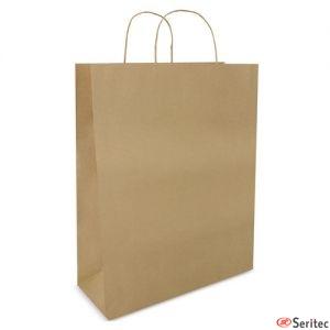 Bolsa de papel mediana personalizada