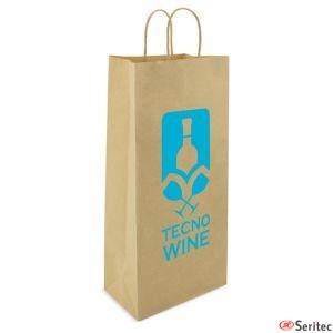 Bolsa de papel estrecha personalizada
