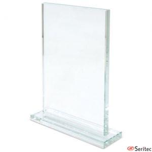 Trofeo de cristal rectángulo personalizado