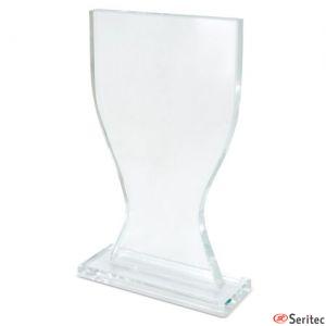 Trofeo de cristal con forma de copa personalizado