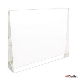 Trofeo de cristal horizontal para personalizar