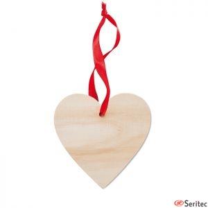 Colgador de madera en forma de corazón personalizado