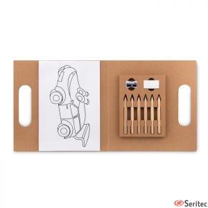 Set de 6 lápices para colorear publicitario