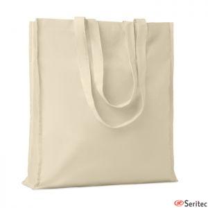 Bolsa de algodón con asas reforzadas personalizada