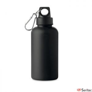 Botella con mosquetón publicitaria