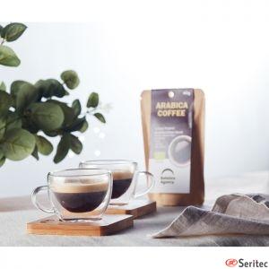 Juego de 2 tazas café publicitario