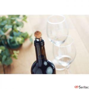 Set vino 4 piezas caja grande corcho publicitario
