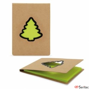 Bloc de notas personalizable árbol de Navidad