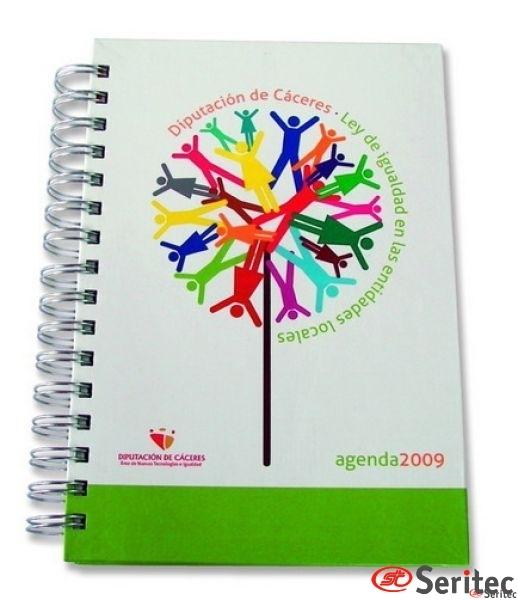 Agenda 14 x 21 día por página wire-o color