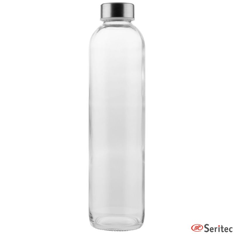 Botella de cristal publicitaria