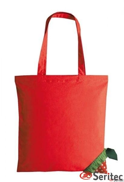Bolsa plegable con forma de fresa