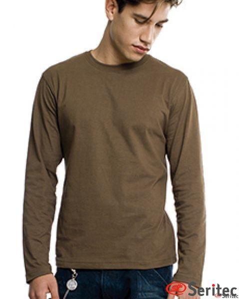 Camiseta hombre manga larga en varios colores personalizable